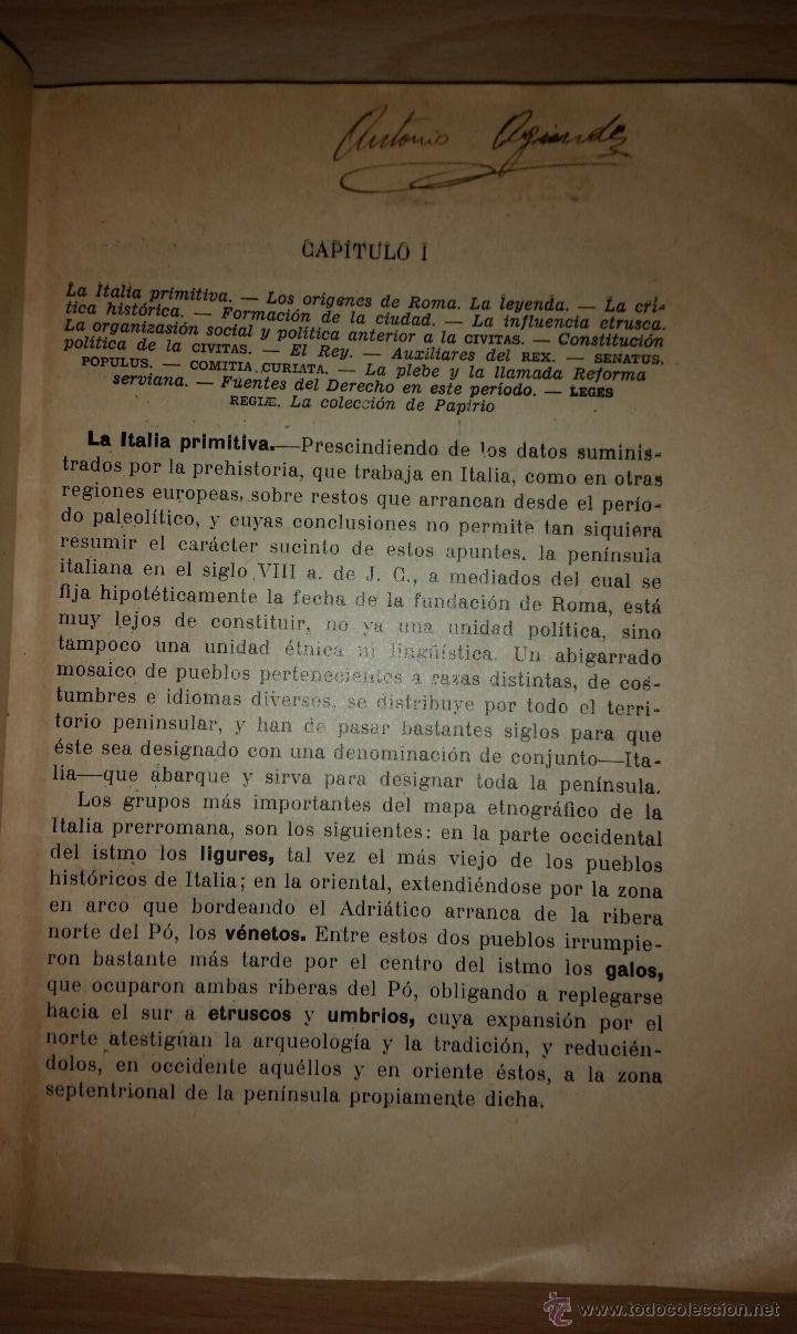 Libros antiguos: COMPENDIO DE DERECHO PUBLICO ROMANO E HISTORIA DE LAS FUENTES - J. ARIAS RAMOS - 1932 - Foto 3 - 52022816