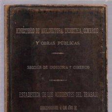 Libros antiguos: MINISTERIO DE AGRICULTURA. 1901-02.ALEJANDRO VIDAL Y MON. VER. Lote 52339109