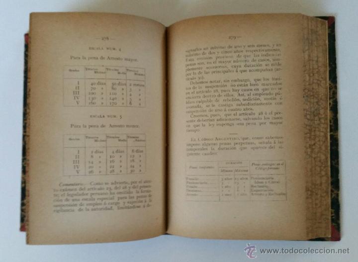 Libros antiguos: Exposición comentada y comparada del código penal del Peru de 1863 - José Viterbo Arias - Foto 6 - 52605945
