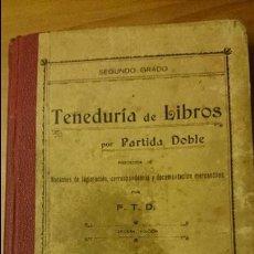 Libros antiguos: TENEDURIA DE LIBROS POR PARTIDA DOBLE, F.T.D. 1910, NOCIONES LEGISLACION, CORRESPONDENCIA Y DOCUMENT. Lote 52698484