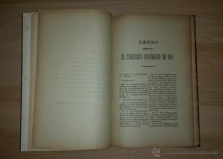 Libros antiguos: leyes y resoluciones expedidas por los congresos ordinarios de 1891 y 1892 - RICARDO ARANDA - Foto 4 - 52718540