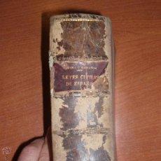 Libros antiguos: LEYES CIVILES DE ESPAÑA POR DON LEON MEDINA Y DON MANUEL MARAÑON. MADRID AÑO 1911. Lote 52749230