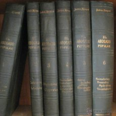 Libros antiguos: EL ABOGADO POPULAR D.PEDRO HUGUET Y CAMPAÑA - 6 VOLUMENES-POSIBLE RECOGER EN MANO - COMPARE PRECIOS. Lote 52917543
