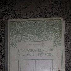 Libros antiguos: LECCIONES DE DERECHO MERCANTIL- POR EL P. JOSE G. VILAR. S.J- 1916. Lote 53106454