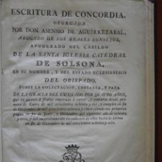 Libros antiguos: ESCRITURA DE CONCORDIA OTORGADA POR DON ASENSIO DE AGUIRREZABAL, ABOGADO DE LOS REALES CONSEJOS, . Lote 53373752