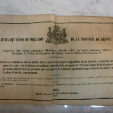 Libros antiguos: JUNTA DEL CENSO DE LA POBLACIÓN DE LA PROVINCIA DE GERONA - EDITORIAL, PACIANO TORRES - 1857. Lote 53742934