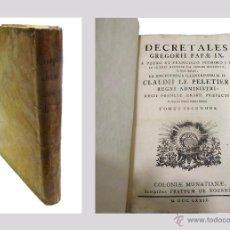 Libros antiguos: GREGORII PAPAE IX -CORPUS JURI CANONICI,DECRETALES (TOMO II) - AÑO 1.779. Lote 53756085