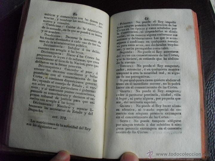 Libros antiguos: 1812 1ª TIRADA 1ª EDICIÓN DE LA 1ª CONSTITUCIÓN POLITICA DE LA MONARQUIA ESPAÑOLA PALAU 59673 - Foto 6 - 53763265
