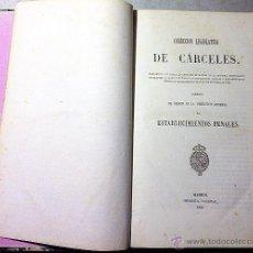 Libros antiguos: COLECCIÓN LEGISLATIVA DE CÁRCELES. 1860. ESTABLECIMIENTOS PENALES S XIX. HOLANDESA ÉPOCA.. Lote 53979624