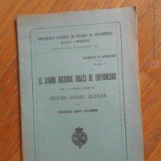 Libros antiguos: EL SEGURO NACIONAL INGLES DE ENFERMEDAD, SEGURO SOCIAL ALEMAN, FEDERICO LOPEZ VALLEJO, 1922. Lote 54302666