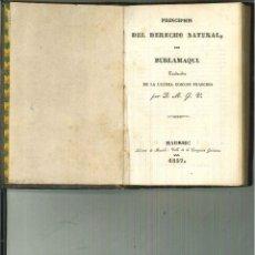 Libros antiguos: PRINCIPIOS DE DERECHO NATURAL. BURLAMAQUI. Lote 54516234