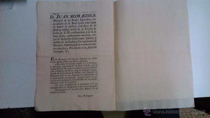 Libros antiguos: Real Cedula de S.M. y señores del consejo. 1825 Fernando VII Madrid.( reimpresa en Mataró) - Foto 3 - 54604339