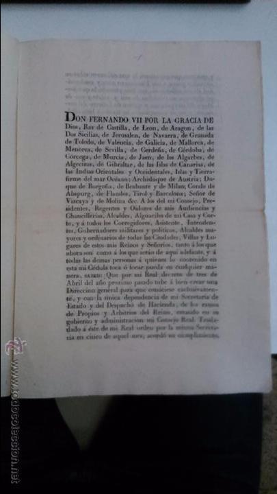 Libros antiguos: Real Cedula de S.M. y señores del consejo. 1825 Fernando VII Madrid.( reimpresa en Mataró) - Foto 4 - 54604339