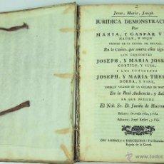Libros antiguos: LC-010. COMPENDIO DE ALEGATOS JURIDICOS SOBRE SENTENCIAS. ESPAÑA. FINALES 1700. Lote 50543869