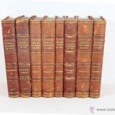 Libros antiguos: 5747 - CODIGO PENAL REFORMADO 1870. SALVADOR VIADA. TIP. MANUEL GINES. 1890. 8 VOL.. Lote 48444477