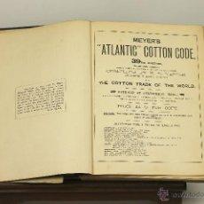 Libros antiguos: 7270 - MEYER'S ATLANTIC COTTON CODE EDITION 39. H. R. MEYER. LONDON. S/F. Lote 54896324