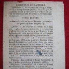Libros antiguos: MINISTERIO DE HACIENDA 30 ARTICULOS DE 1855. Lote 54908333