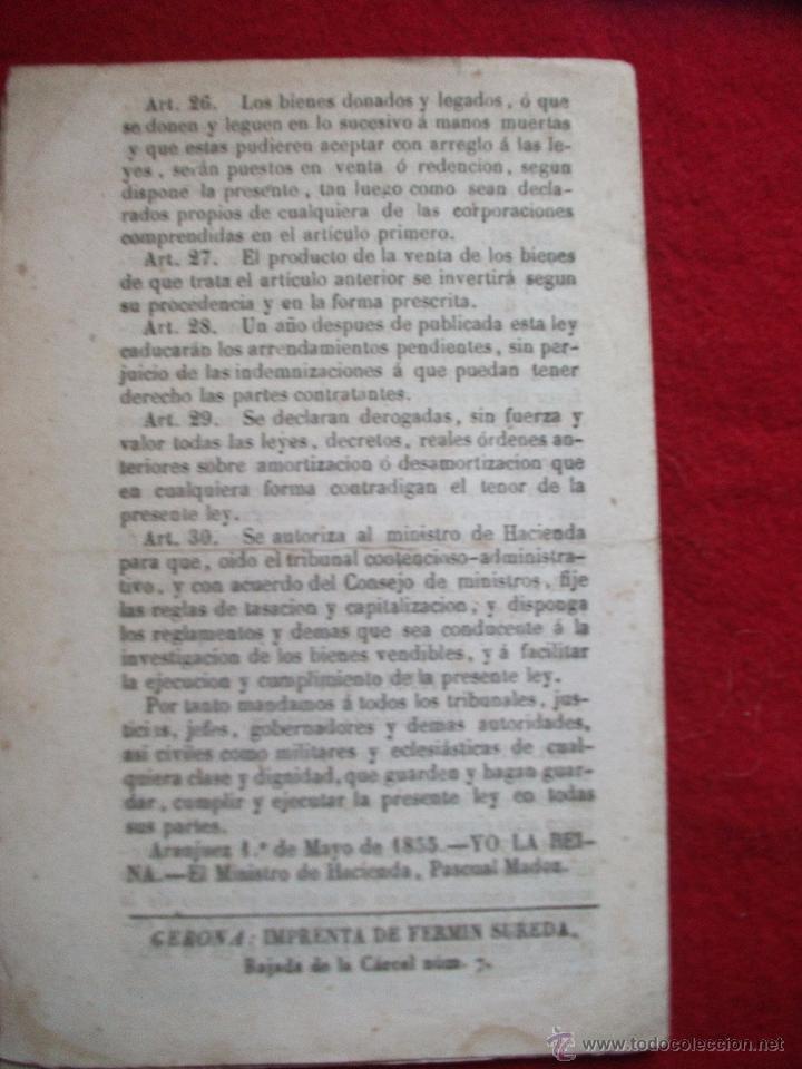 Libros antiguos: MINISTERIO DE HACIENDA 30 ARTICULOS DE 1855 - Foto 2 - 54908333