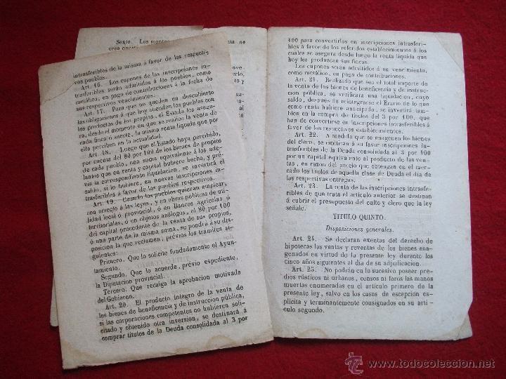 Libros antiguos: MINISTERIO DE HACIENDA 30 ARTICULOS DE 1855 - Foto 3 - 54908333