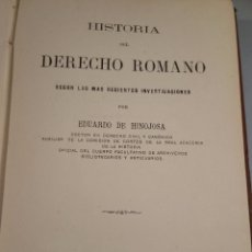 Libros antiguos: HISTORIA DEL DERECHO ROMANO 1880-1885 2 VOLÚMENES HINOJOSA EDUARDO DE. Lote 54921066