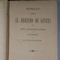 Libros antiguos: ENSAYO SOBRE EL DERECHO DE GENTES. ARENAL CONCEPCION 1879. Lote 54921427