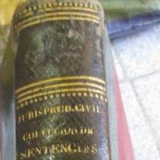 Libros antiguos: COLECCION DE LAS SENTENCIAS DEL TRIBUNAL SUPREMO DE JUSTICIA VOL 2 D.FRANCISCO PAREJA AÑO 1866. Lote 55050962