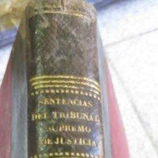 Libros antiguos: COLECCION DE LAS SENTENCIAS DEL TRIBUNAL SUPREMO DE JUSTICIA VOL 12 D.FRANCISCO PAREJA AÑO 1866. Lote 55051012