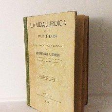 Libros antiguos: HERRERO: LA VIDA JURÍDICA EN LOS PUEBLOS, INDISPENSABLE A TODO CIUDADANO. (ZARAGOZA, 1911) ARAGÓN. Lote 55334711