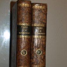 Libros antiguos: JOSÉ MARIANO VALLEJO. COMPENDIO DE MATEMÁTICAS PURAS Y MISTAS. MADRID 1840. Lote 55343405