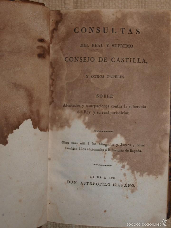 Libros antiguos: Consultas del Real y Supremo Consejo de Castilla. - Foto 2 - 55346438