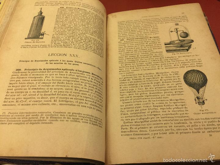 Libros antiguos: Curso elemental de fisica elemental y aplicada y nociones de quimica inorganica. 1886. - 656 pags - Foto 3 - 55367727