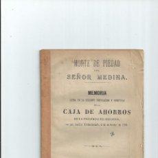 Livres anciens: 1878 - CAJA DE AHORROS DE LA PROVINCIA DE CÓRDOBA - INSTALACIÓN Y APERTURA. Lote 56077491