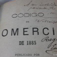 Libros antiguos: CODIGO DE COMERCIO DE 1885. Lote 56303617