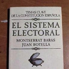 Libros antiguos: EL SISTEMA ELECTORAL LEY D´HONT. Lote 56321563