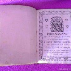 Libros antiguos: ORDENANZAS, HERMANDAD DE SOCORRO, IGLESIA PARROQUIAL DE SAN JUSTO Y PASTOR 1728. Lote 56343897