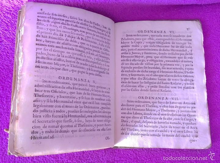 Libros antiguos: ORDENANZAS, HERMANDAD DE SOCORRO, IGLESIA PARROQUIAL DE SAN JUSTO Y PASTOR 1728 - Foto 3 - 56343897