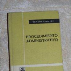 Libros antiguos: VENDO LIBRO, TEXTOS LEGALES, PROCEDIMIENTO ADMINISTRATIVO.. Lote 56516414