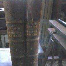 Libros antiguos: INSTITUCIONES DE DERECHO ROMANO. Lote 56548573