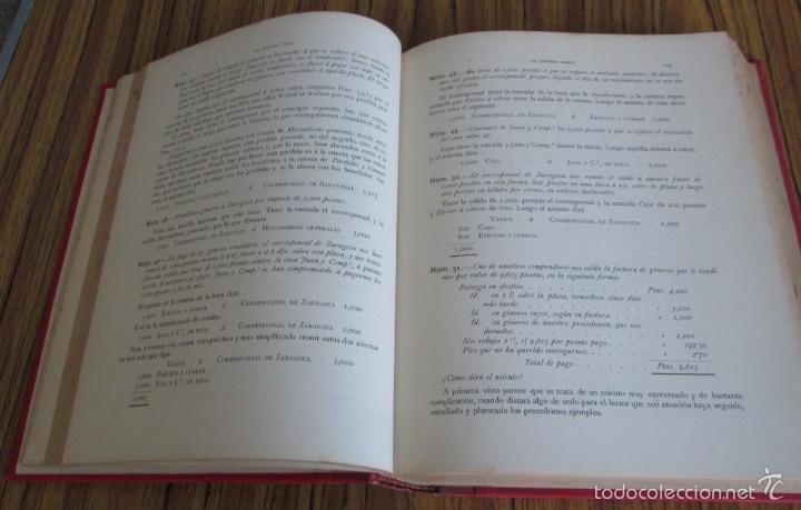 Libros antiguos: 2 tomos - LA PARTIDA DOBLE - Por Emilio Oliver Castañer 1907 - Foto 7 - 56601668