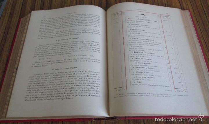 Libros antiguos: 2 tomos - LA PARTIDA DOBLE - Por Emilio Oliver Castañer 1907 - Foto 9 - 56601668
