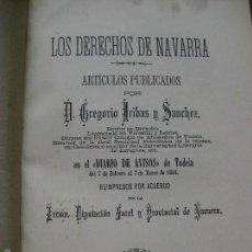 Libros antiguos: LOS DERECHOS DE NAVARRA , Y TRES OBRAS MAS REFERENTES A NAVARRA - AÑO 1894. Lote 56742746