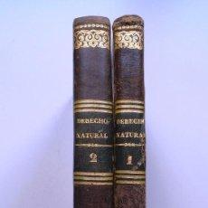Libros antiguos: LECCIONES DE DERECHO NATURAL Y DE GENTES - D. JUAN DE ACES Y PÉREZ - DOS TOMOS - AÑO 1836. Lote 56927684