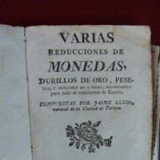 Libros antiguos: TORTOSA [1781]- CAMBIOS MONEDAS ORO, PESETAS... EN ESPAÑA. CURIOSO. COMERCIO. RARO. Lote 57071965