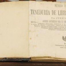 Libros antiguos: 7556 - TENEDURÍA DE LIBROS POR PARTIDA DOBLE. FERMIN DE ANTONIO. TIP. L. OBRADORS. 1875.. Lote 57084219