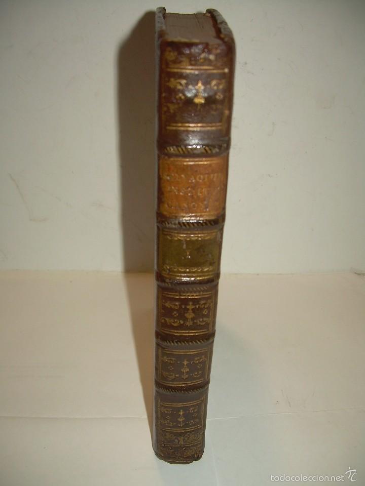 LIBRO TAPAS DE PIEL....INSTITUTIONUM CANONICARUM.....LEYES - DERECHO.....AÑO...1.789 (Libros Antiguos, Raros y Curiosos - Ciencias, Manuales y Oficios - Derecho, Economía y Comercio)