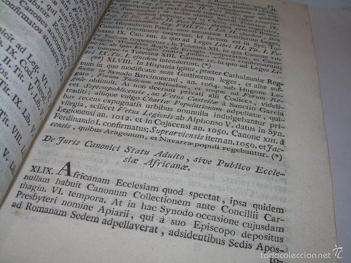 Libros antiguos: LIBRO TAPAS DE PIEL....INSTITUTIONUM CANONICARUM.....LEYES - DERECHO.....AÑO...1.789 - Foto 5 - 57159455