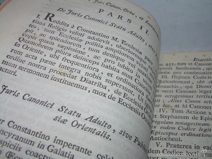 Libros antiguos: LIBRO TAPAS DE PIEL....INSTITUTIONUM CANONICARUM.....LEYES - DERECHO.....AÑO...1.789 - Foto 6 - 57159455