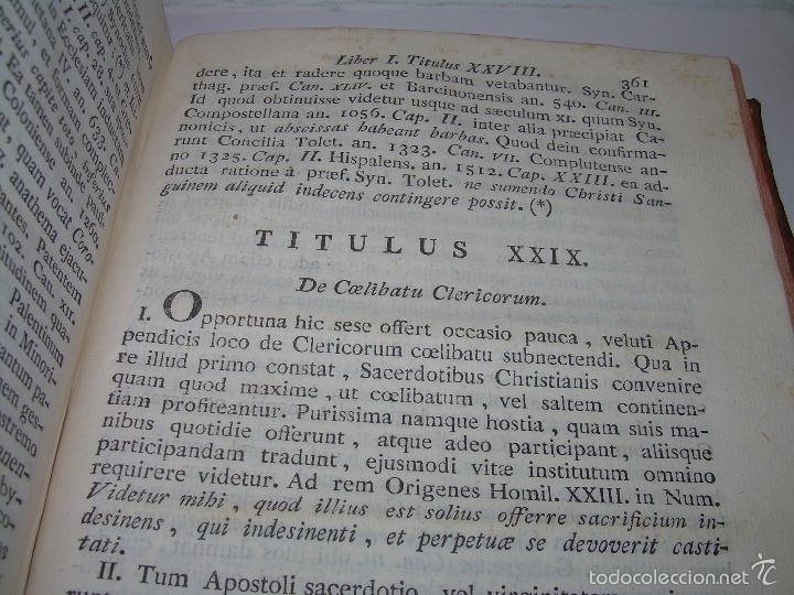 Libros antiguos: LIBRO TAPAS DE PIEL....INSTITUTIONUM CANONICARUM.....LEYES - DERECHO.....AÑO...1.789 - Foto 8 - 57159455