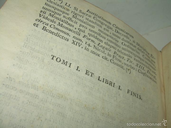 Libros antiguos: LIBRO TAPAS DE PIEL....INSTITUTIONUM CANONICARUM.....LEYES - DERECHO.....AÑO...1.789 - Foto 9 - 57159455