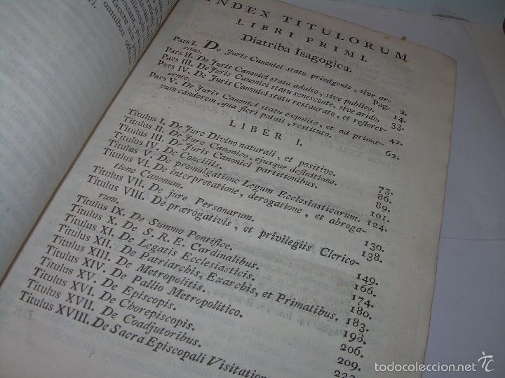 Libros antiguos: LIBRO TAPAS DE PIEL....INSTITUTIONUM CANONICARUM.....LEYES - DERECHO.....AÑO...1.789 - Foto 10 - 57159455